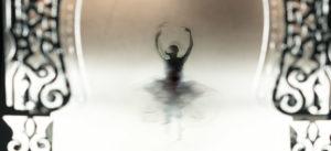 dancing ballerina silhouette of a woman