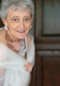 Senior woman's studio portrait